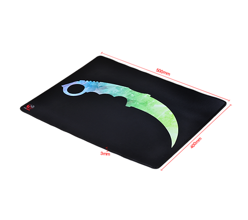 Mousepad Gamer PCYes FPS Knife, Speed, Grande (500x400mm) - FK50X40