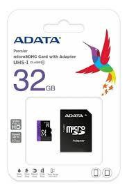 Cartão de Memoria SD Adata Class 10UHSI 32Gb Micro+Adaptador