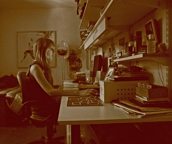 Celeste at work