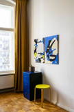 The artworks in a house in Berlin.