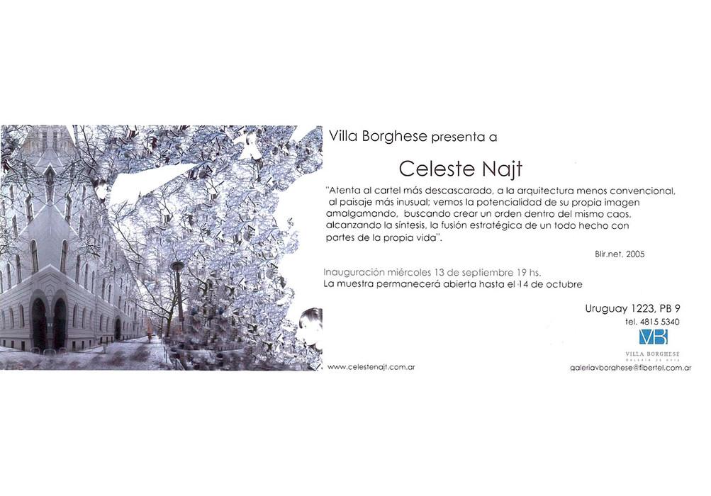 Villa Borghese Art Gallery, Celeste's first solo exhibition in Buenos Aires.