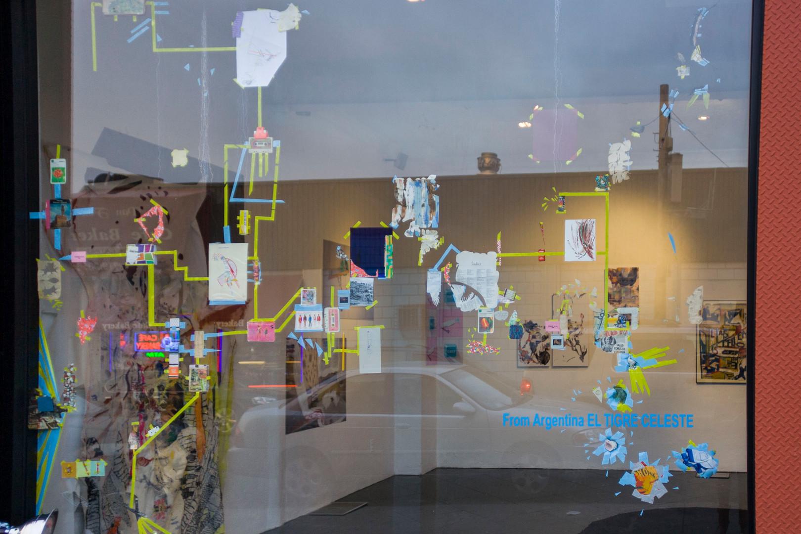 Installation on Y Gallery showcase by Celeste Najt & Nicolas Sobrero.