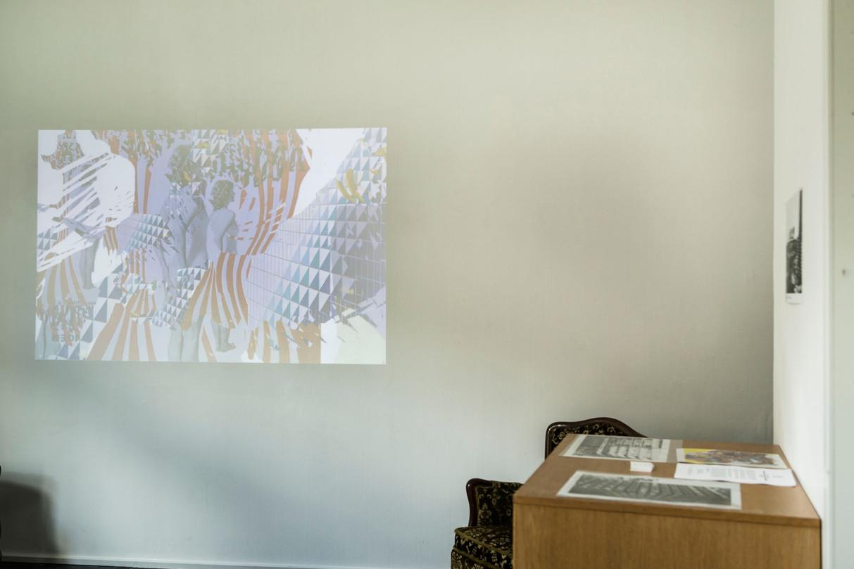Cyan Galeri - Video on wall
