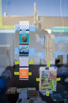 Collage on windows, 2009