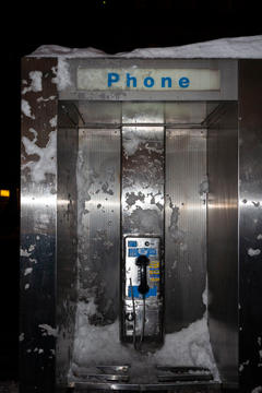 Phone with snow, 2009