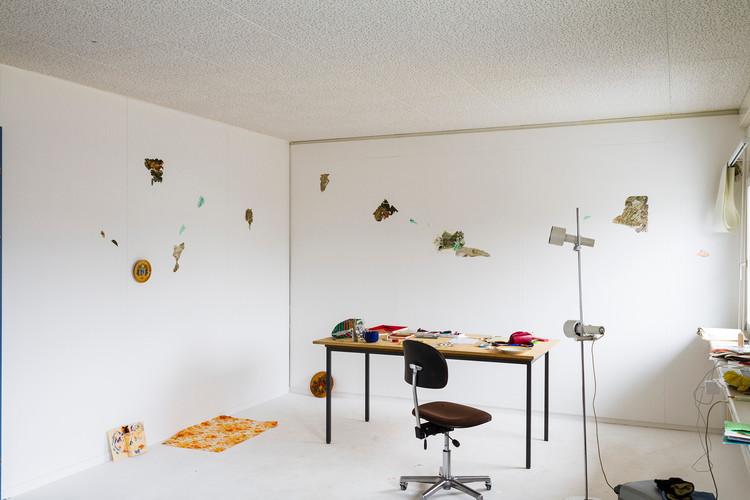 Celeste´s studio at INDEX Residency, Zurich, Switzerland