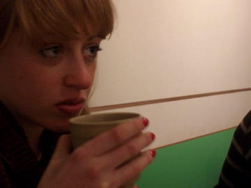 Me drinking chinese soup, 2009