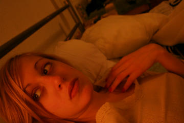 Me in my Budapest bed, 2007.