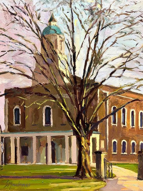 Holy Trinity Clapham, Morning glow, Winter
