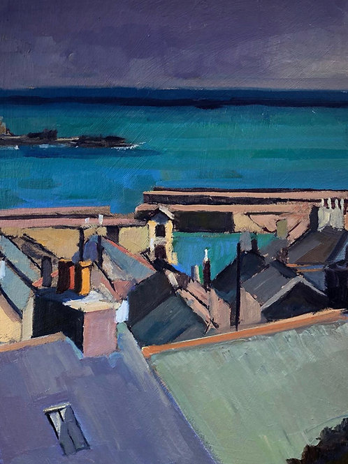Roof top view, Mousehole, Cornwall