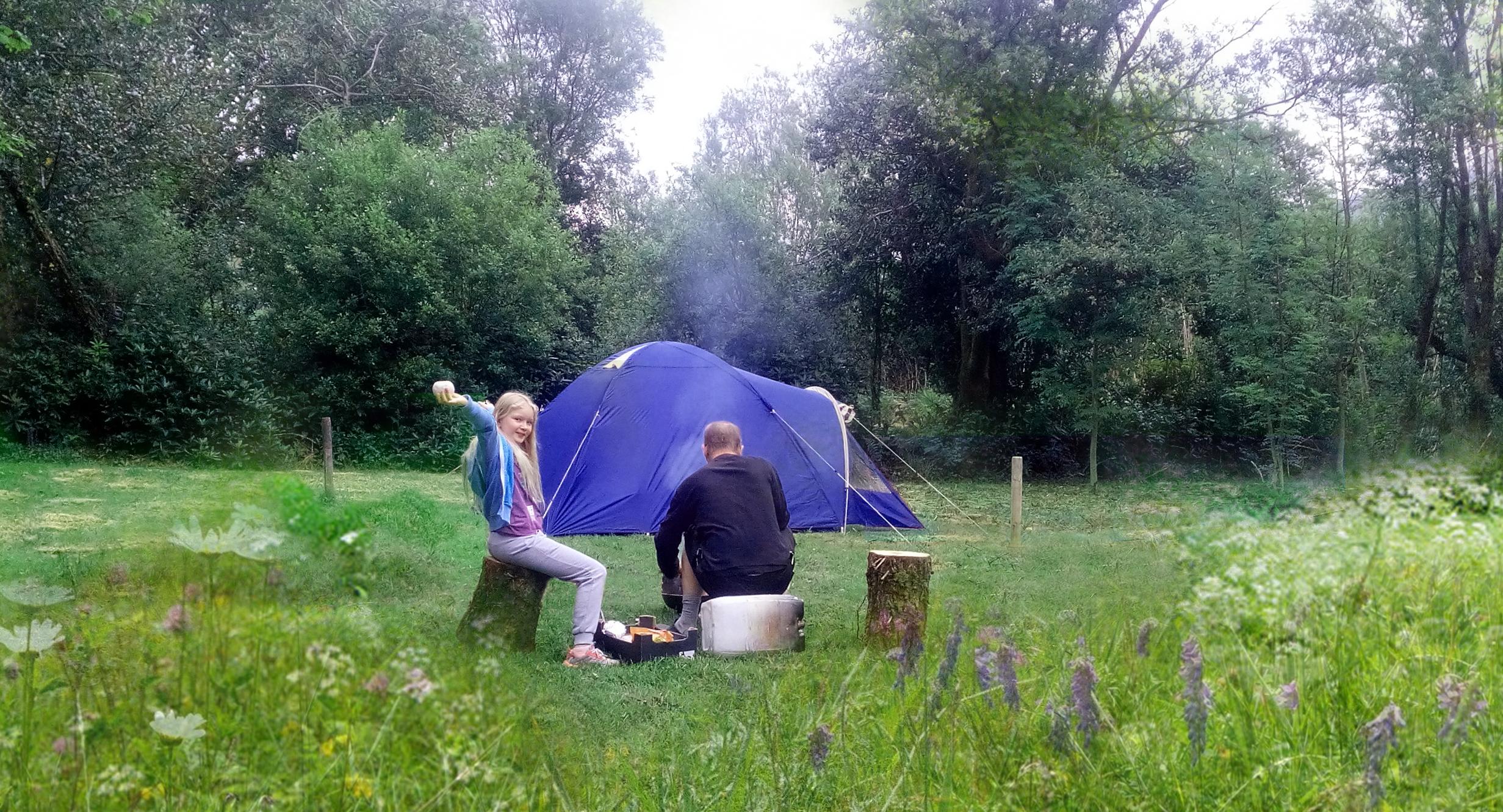 camping at Coomarkane Visitor Centre