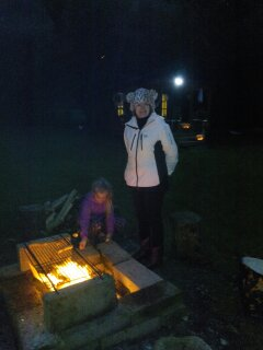 Barbequing at the Family Cabin.