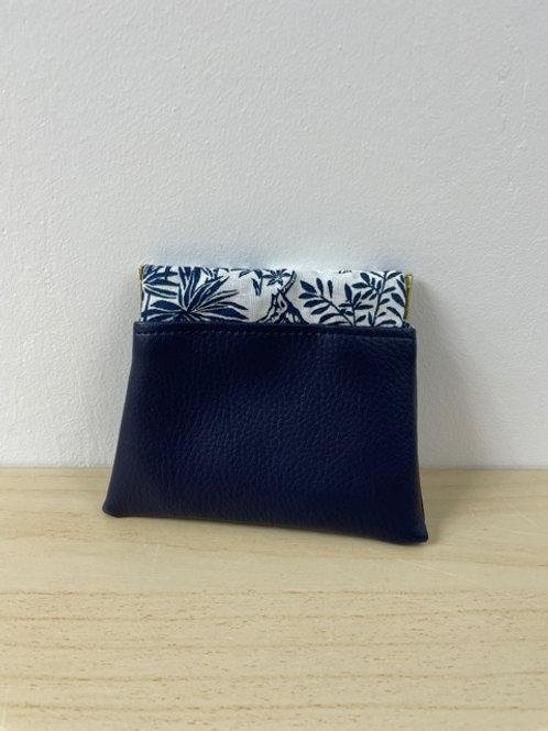 Porte-monnaie Clic-Clac - Simili cuir Bleu marine