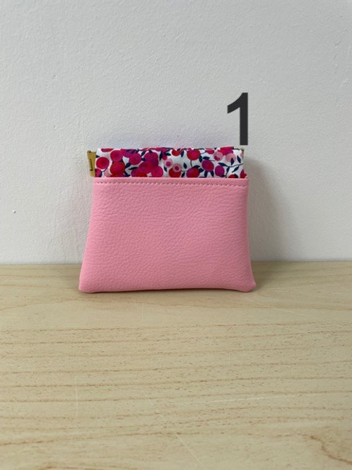 Porte-monnaie Clic-Clac - Simili cuir rose layette