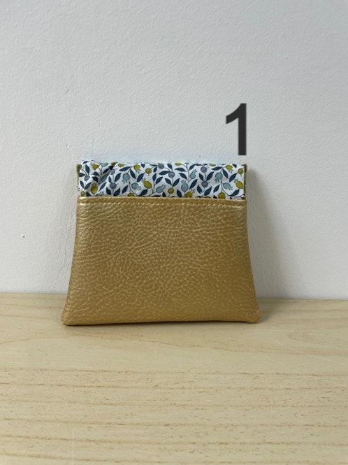 Porte-monnaie Clic-Clac - Simili cuir Doré