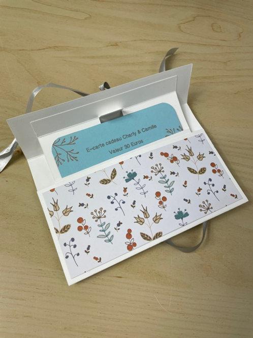 Carte cadeau (format papier) - 30€ ou 45€