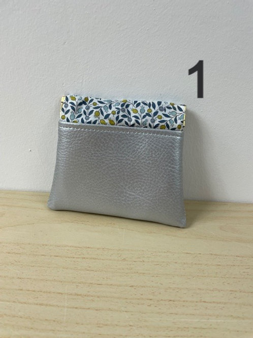 Porte-monnaie Clic-Clac - Simili cuir Argenté