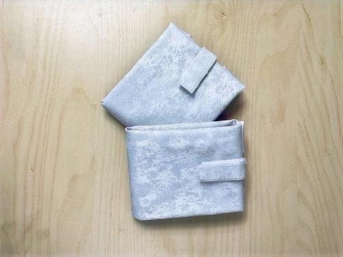 Wrap'n go : coton enduit gris clair avec relief