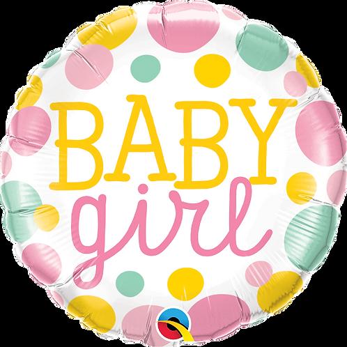 """Baby Girl 18"""" Round"""