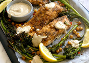 Baked Salmon with Herby Lemon Sauce (1 tray)