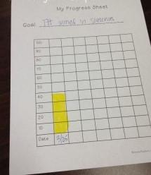 Progress Monitoring Chart - Speech and Language Plus