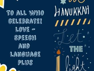 Happy Hanukkah from Speech and Language Plus!