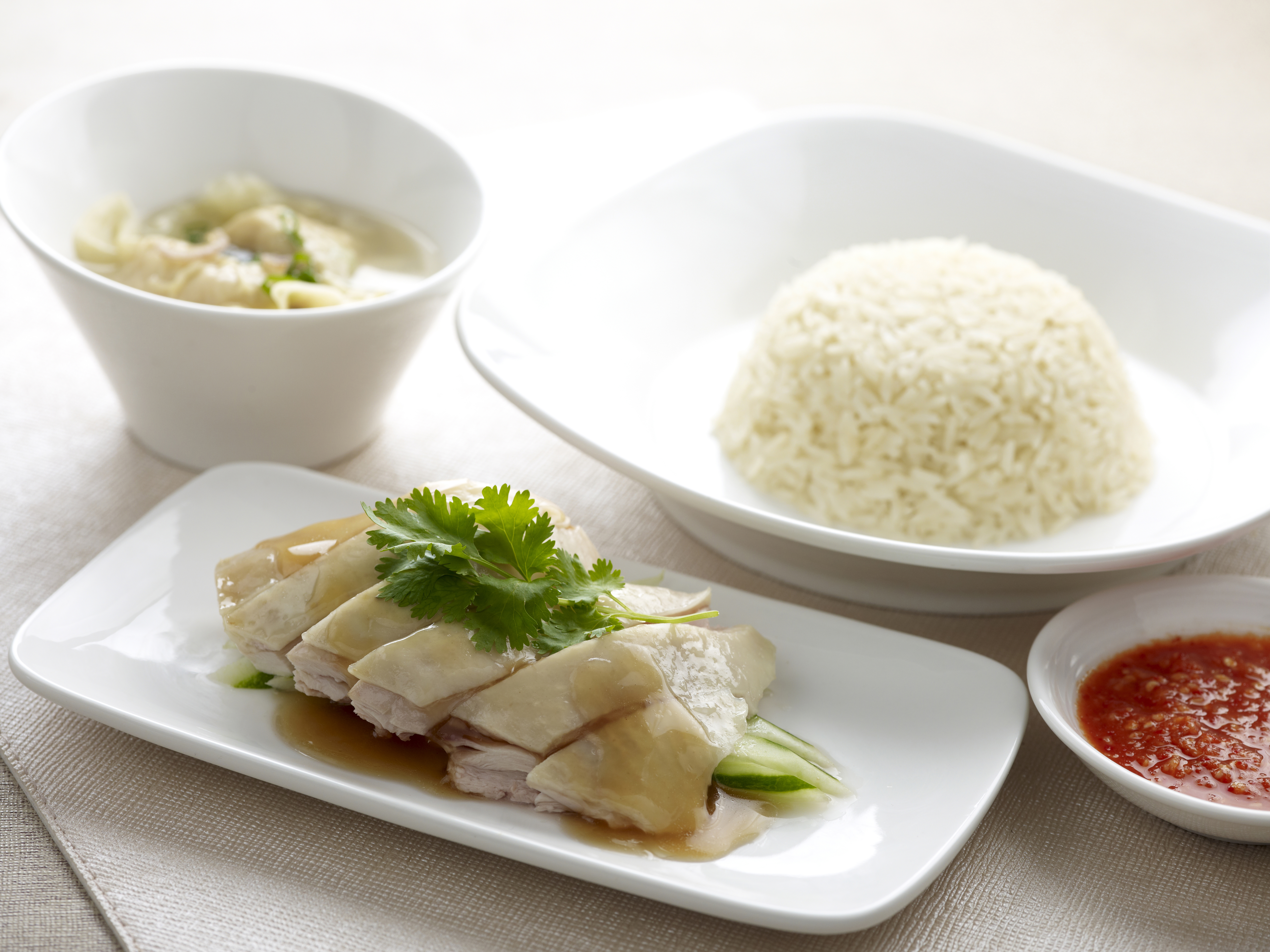Silky Chicken Rice Set