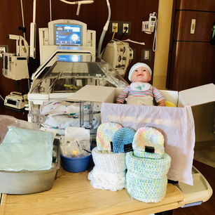 Beanies for Babies at Oak Hill Hospital in Brooskville, FL.