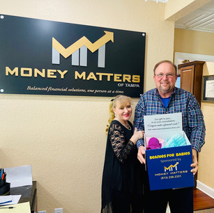 Ron Clark (Founder /CEO of Money Matters & Beanies for Babies) with his wife Gloria.