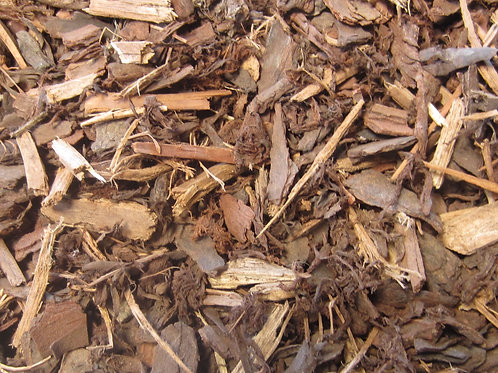 PINE BARK MULCH (50% NATURAL 50% DYED) PER m3