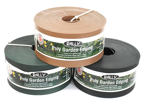 POLY GARDEN EDGING GREEN 75MM X 6M
