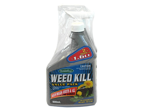 BRUNNINGS WEED KILL TWIN PACK