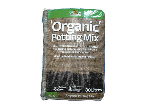 GROW BETTER ORGANIC PREMIUM POTTING MIX 30L
