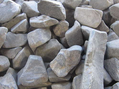 BLACK GREY PEBBLES 20 to 60mm 20KG BAG