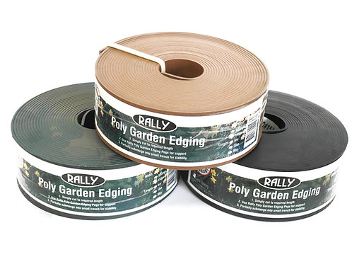 POLY GARDEN EDGING ASSORTED COLOURS 100MM X 30M