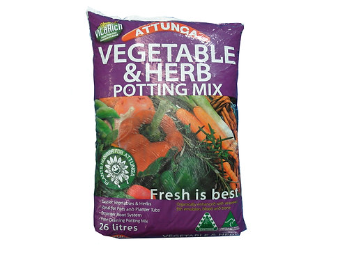 ATTUNGA  VEGETABLE & HERB POTTING MIX 26L