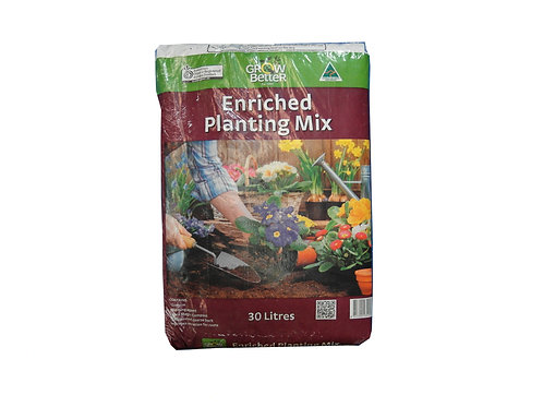 GROW BETTER ENRICHED PLANTING MIX 30L