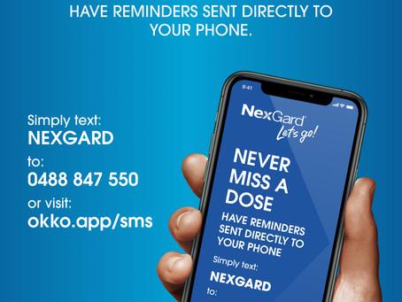 FREE Nexgard SMS Reminders