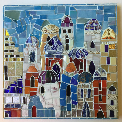 Moroccan Buildings Wall Hanging NEW