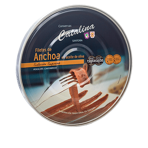 Filetes de Anchoa en aceite de oliva – PANDERETA 550 – Anchoa grande
