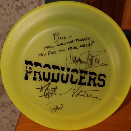The Producers Frisbee memorabilla