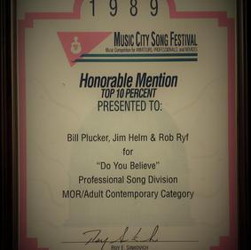 """Do you Believe"" Award"