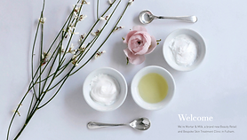 image of facial products in small bowls