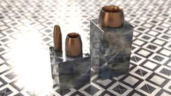 Stop Bookend+Spun vase.225