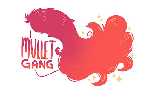 """""""Mullet Gang"""" Vinyl Sticker"""