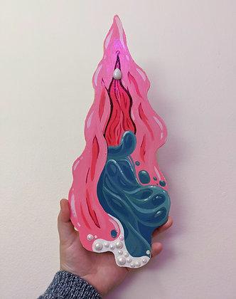Woodcut Vulva #1