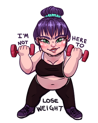 """I'm Not Here to Lose Weight"" 3 in Vinyl Sticker"
