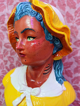 """Oceana"" Hand Painted Bust"