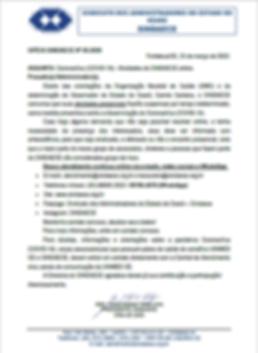 Ofício SINDAECE 05.2020 - Coronavírus (COVID-19) - Atividades do SINDAECE online.