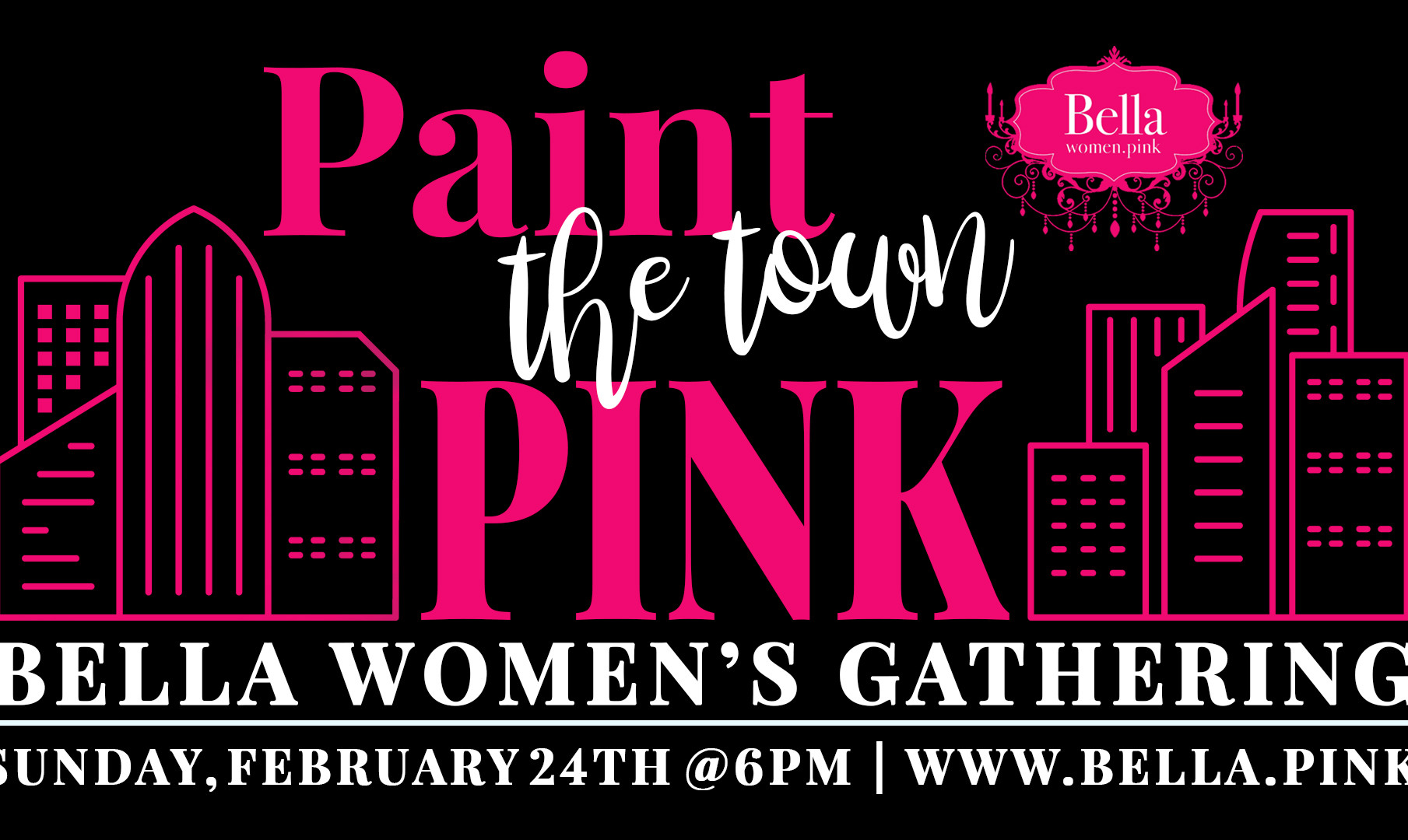 Bella paint the town pink february 2019